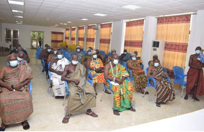 Delegations from Klefe and Matse Traditional Areas call on Volta Minister